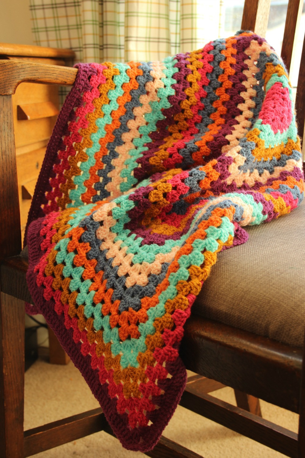 Crochet Granny Square Blanket Inspirational A Super Quick Granny Square Blanket – Zeens and Roger Of Lovely 48 Models Crochet Granny Square Blanket