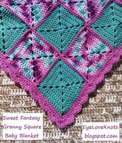 Crochet Granny Square Blanket Patterns Free Awesome Eyeloveknots Sweet Fantasy Granny Square Baby Blanket Of Amazing 42 Ideas Crochet Granny Square Blanket Patterns Free