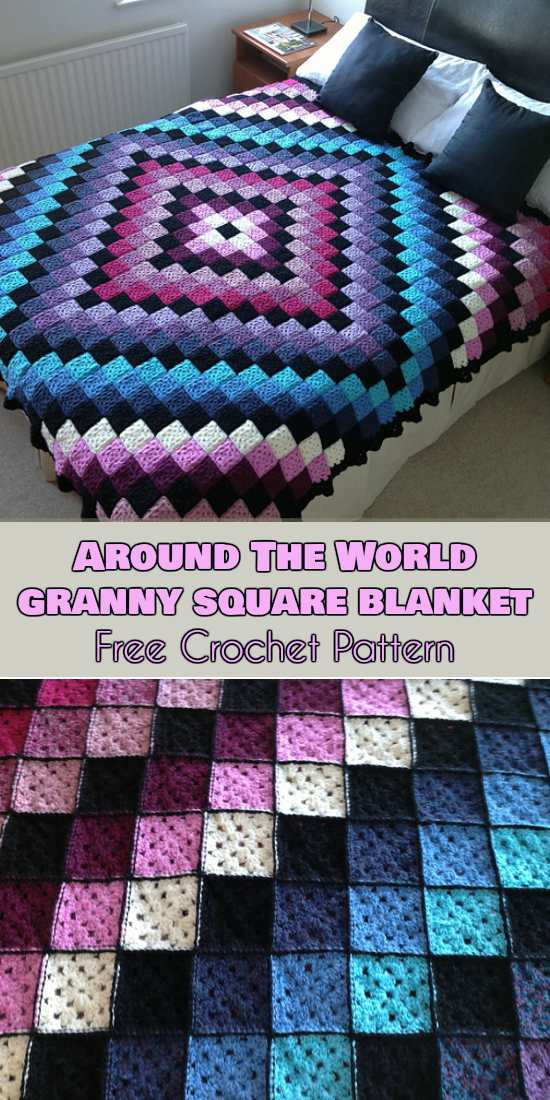 Crochet Granny Square Blanket Patterns Free Fresh Around the World Granny Square Blanket Free Crochet Of Amazing 42 Ideas Crochet Granny Square Blanket Patterns Free
