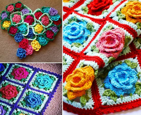 Crochet Granny Square Blanket Patterns Free Fresh Rose Granny Square Blanket Free Pattern Of Amazing 42 Ideas Crochet Granny Square Blanket Patterns Free