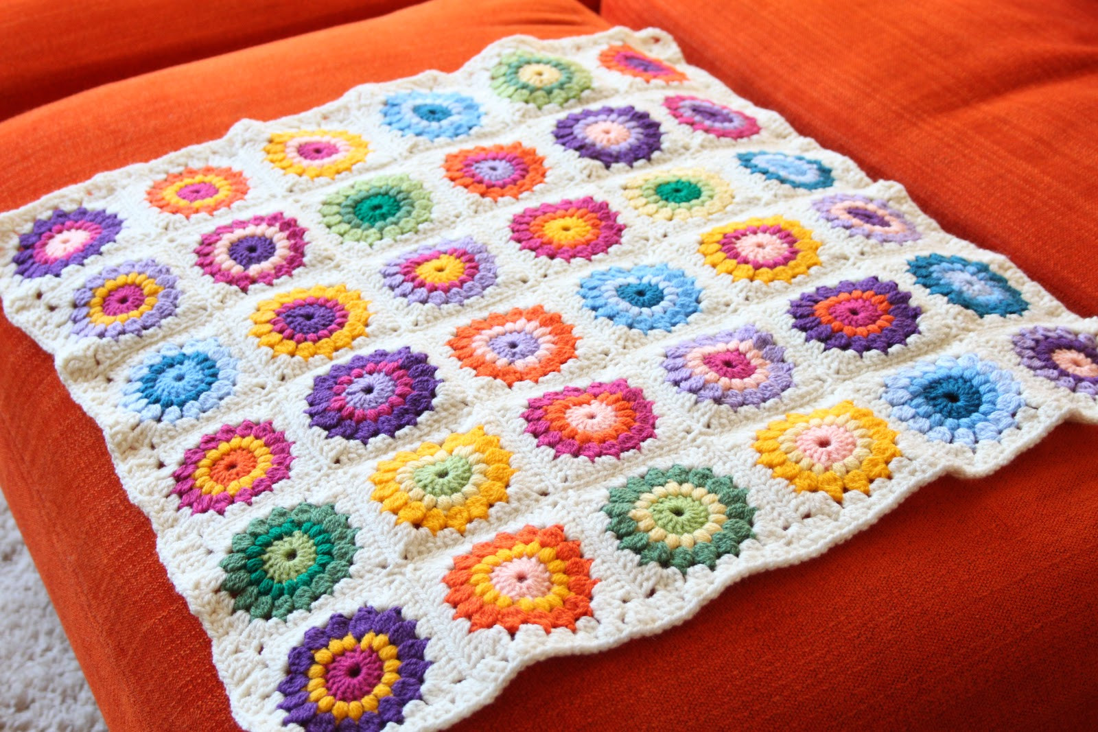 Crochet Granny Square Blanket Patterns Free New Nittybits Sunburst Granny Square Blanket Tutorial Of Amazing 42 Ideas Crochet Granny Square Blanket Patterns Free