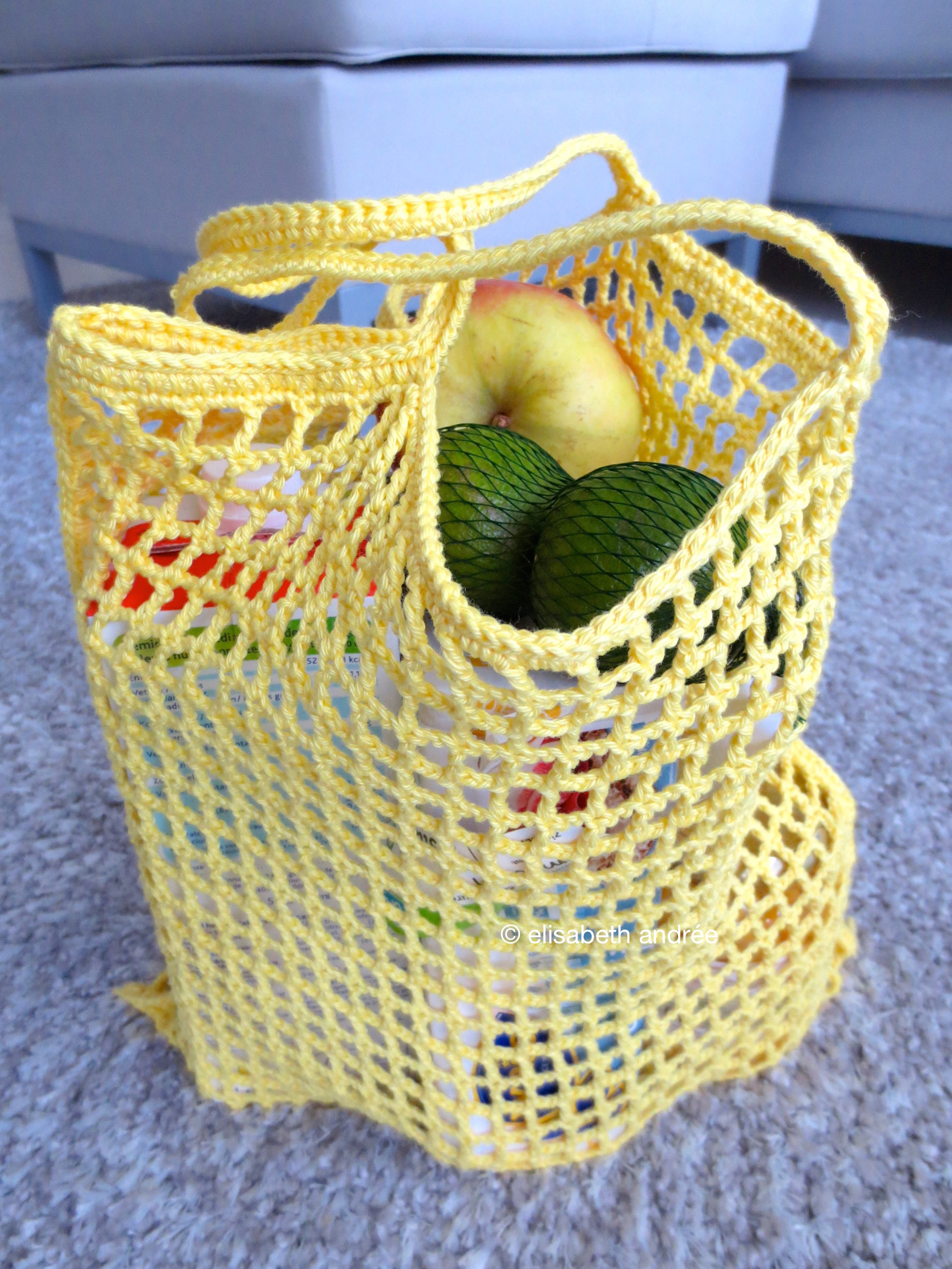 Crochet Grocery Bags Unique How to Make the Citron Grocery Bag Of New 45 Pictures Crochet Grocery Bags
