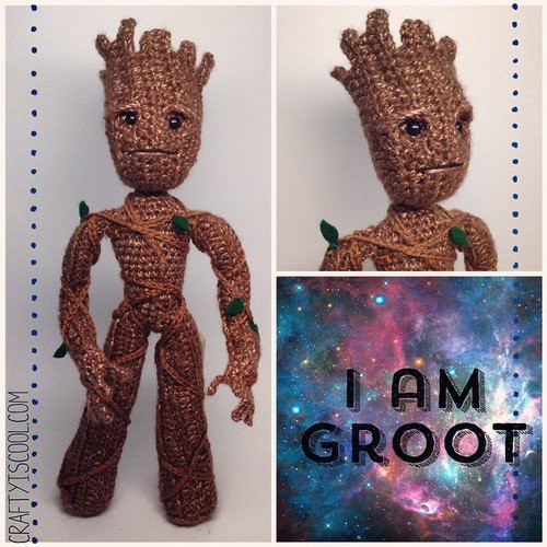 crocheted groot round up