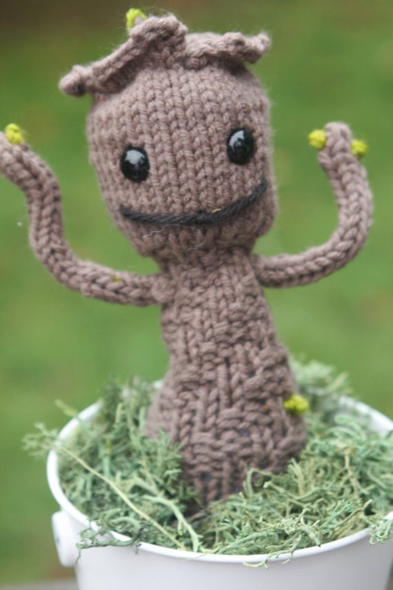 Crochet Groot Awesome Items Similar to Groot Knitting Pattern Pdf Knit Groot Of Contemporary 42 Images Crochet Groot