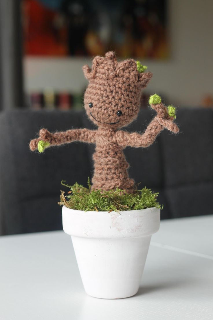 Crochet Groot Inspirational I Crocheted My Own Baby Groot Of Contemporary 42 Images Crochet Groot