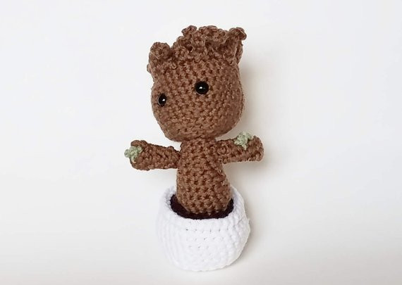 Crochet Groot Lovely Items Similar to Amigurumi Crochet Baby Groot On Etsy Of Contemporary 42 Images Crochet Groot