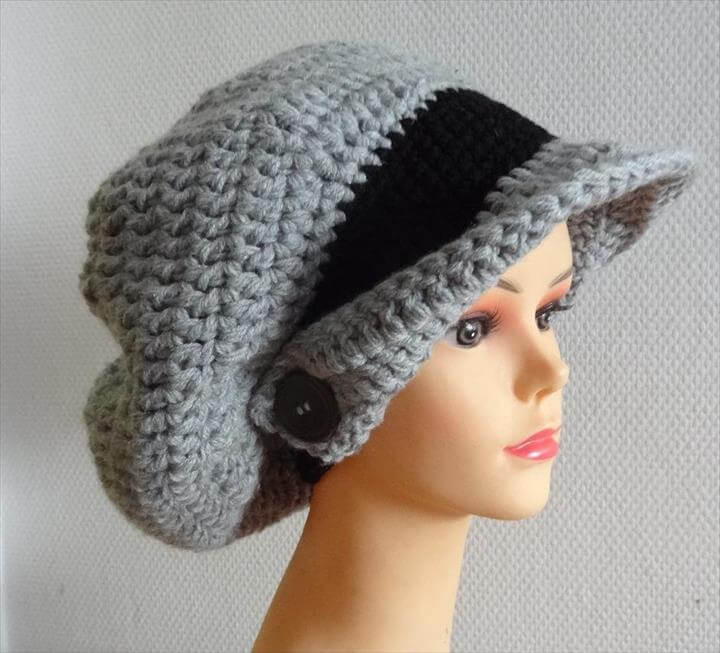 Crochet Hat with Brim Awesome 45 Super Diy Crochet Brimmed Beanie Hat Design Of Marvelous 46 Ideas Crochet Hat with Brim