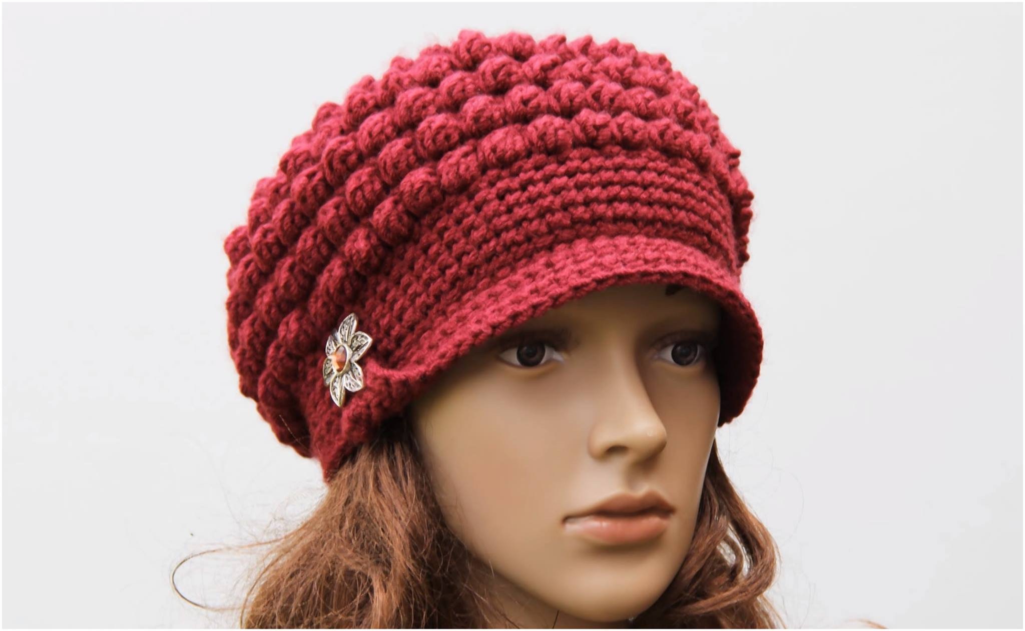 Crochet Hat with Brim Awesome Crochet Brimmed Hat Free Pattern Yarnandhooks Of Marvelous 46 Ideas Crochet Hat with Brim