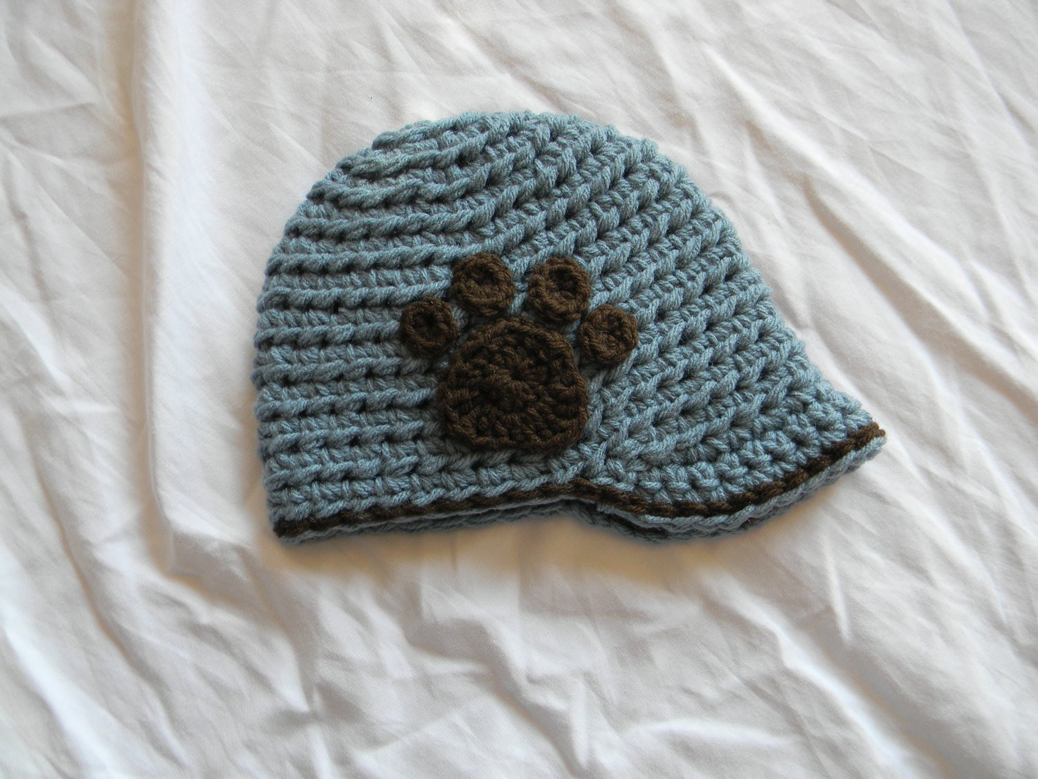 Crochet Hat with Brim Awesome Crochet Pattern Inside Track Brimmed Cap with Paw Print or Of Marvelous 46 Ideas Crochet Hat with Brim