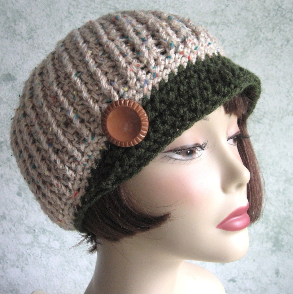 Crochet Hat with Brim New Crochet Newsboy Hat Pattern Ribbed Stitch with Brim Instant Of Marvelous 46 Ideas Crochet Hat with Brim