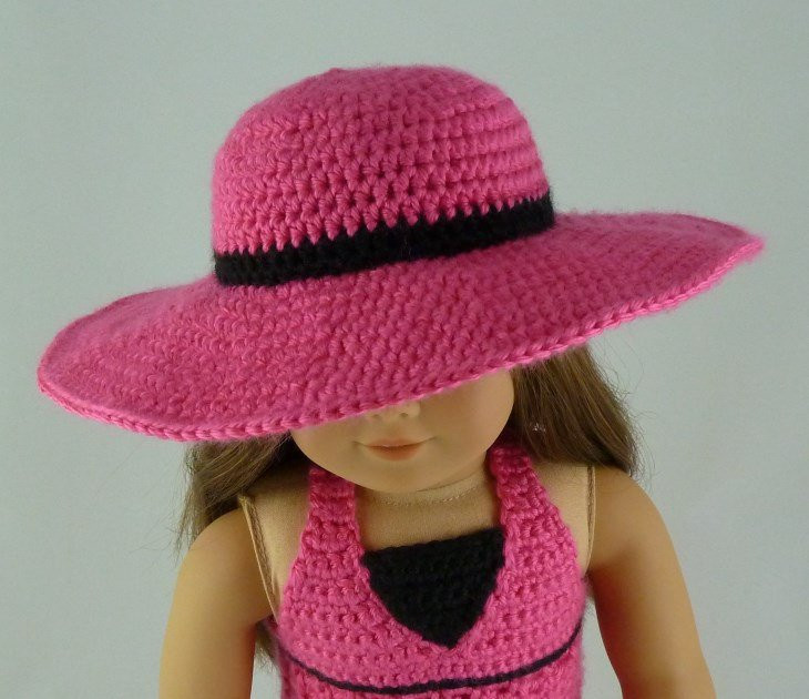 Crochet Hat with Brim New Wide Brim Sunhat Pdf Crochet Pattern for American Girl Of Marvelous 46 Ideas Crochet Hat with Brim