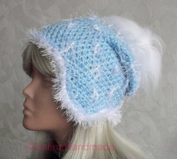 Christmas Crochet Ear Flap Hat Snowflake With by