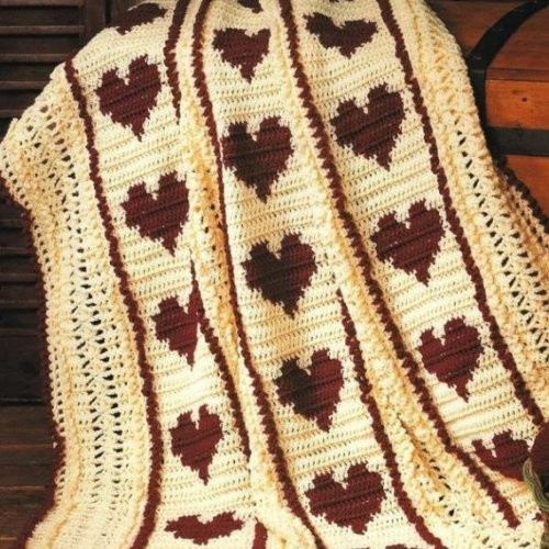 Crochet Heart Afghan Elegant 52 Best Images About Heart Afghan On Pinterest Of Adorable 47 Pictures Crochet Heart Afghan