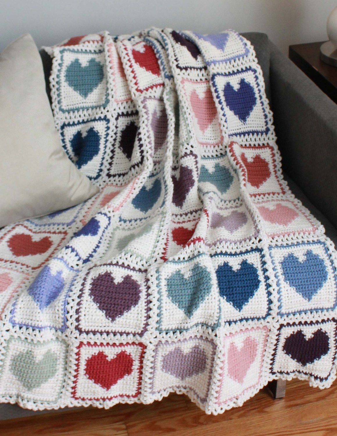 Crochet Heart Afghan Fresh Scrap Hearts Afghan Pattern Pdf Of Adorable 47 Pictures Crochet Heart Afghan
