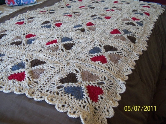 Crochet Heart Afghan Inspirational Cozy Hearts Afghan Crochet Blankets Pinterest Of Adorable 47 Pictures Crochet Heart Afghan