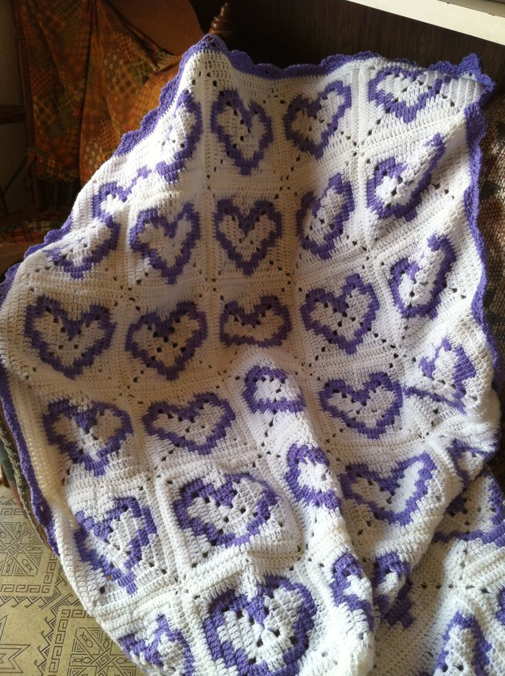 Crochet Heart Afghan New Hearts Afghan Mycrochet Heart Afghans Pinterest Of Adorable 47 Pictures Crochet Heart Afghan