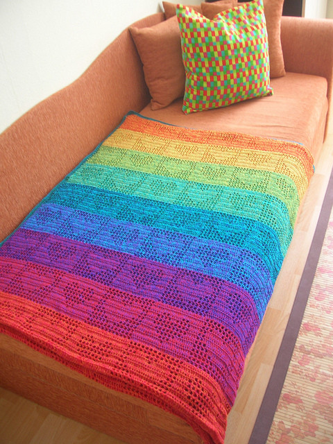 Crochet Heart Afghan Unique Rainbow Hearts Filet Crochet Afghan Curtain Of Adorable 47 Pictures Crochet Heart Afghan
