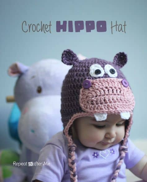 Crochet Hippo Pattern Free Awesome Cute Baby Animal Crochet Hats Pinterest Best Ideas Of Awesome 40 Pics Crochet Hippo Pattern Free