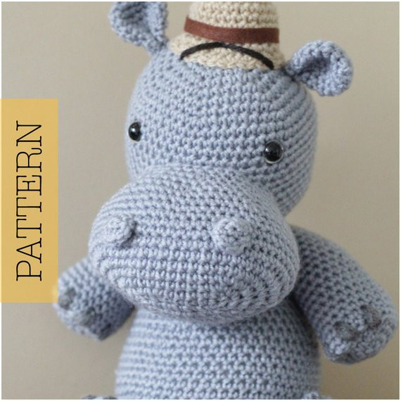 Crochet Hippo Pattern Free Elegant Crochet Amigurumi Hippo Pattern Only Harvey Hippo Pdf Of Awesome 40 Pics Crochet Hippo Pattern Free