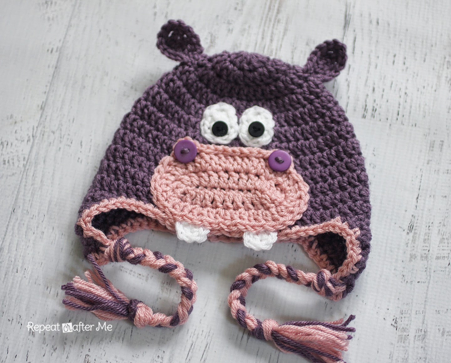 Crochet Hippo Pattern Free Fresh Repeat Crafter Me Crochet Hippo Hat Pattern Of Awesome 40 Pics Crochet Hippo Pattern Free