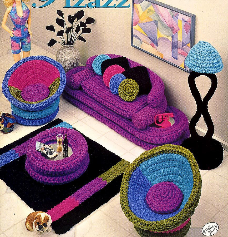 Crochet Home Decor Fresh Fashion Doll Home Decor Crochet Parlor Pizazz Livingroom Of Amazing 43 Pics Crochet Home Decor