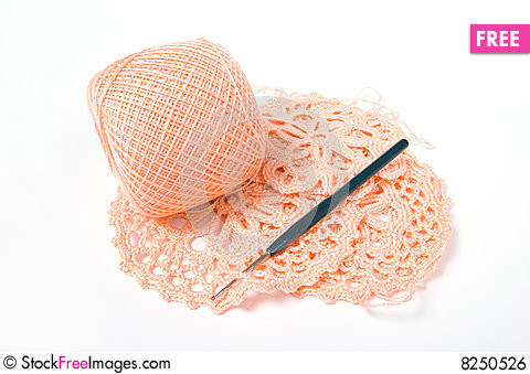 Yarn Ball And Crochet Hook Free Stock s &