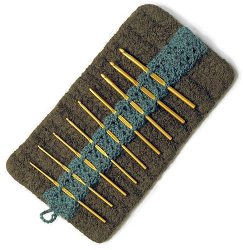 Crochet Hook Cases Best Of Kluster Felted Crochet Hook Case Features A Lacy Un Of Beautiful 49 Pictures Crochet Hook Cases