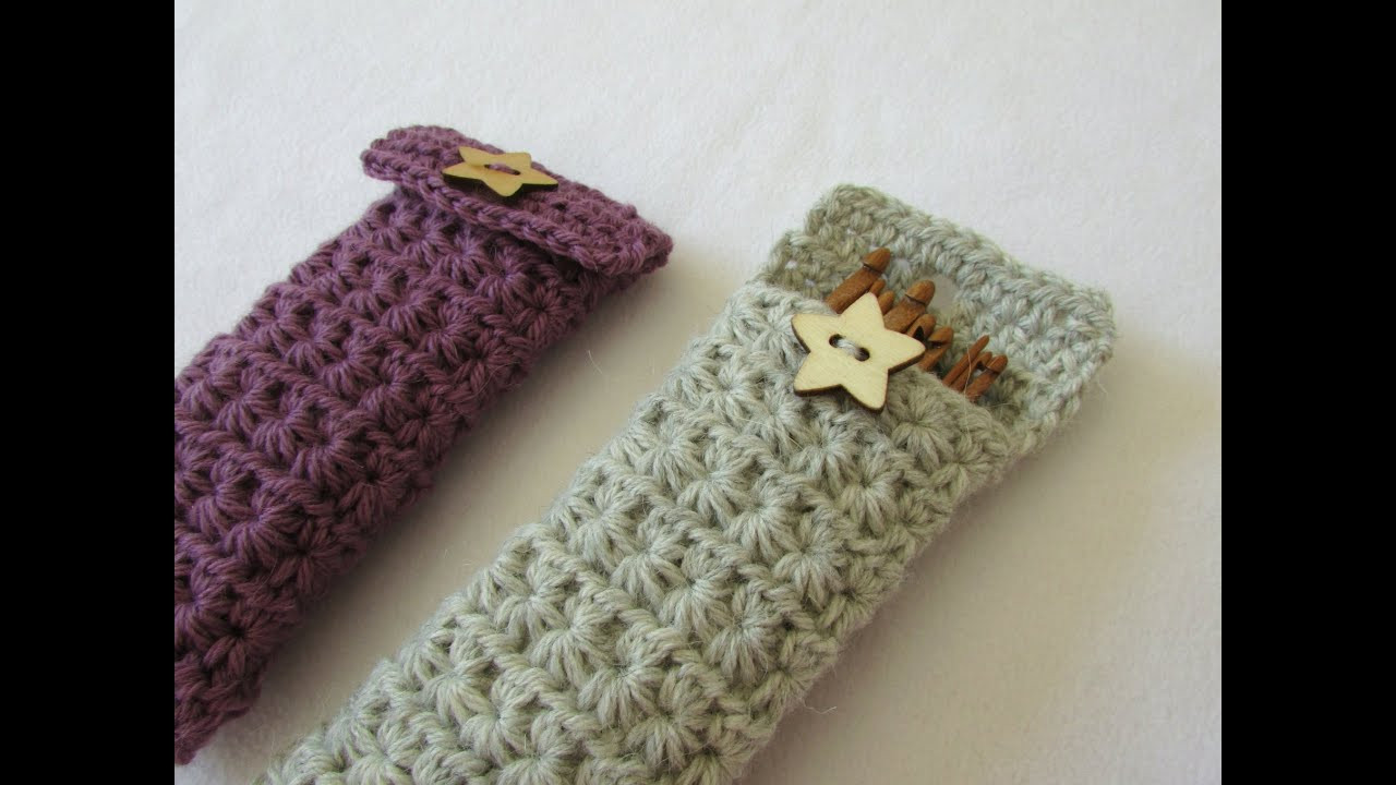 Crochet Hook Cases Unique How to Crochet A Star Stitch Crochet Hook Case Holder Of Beautiful 49 Pictures Crochet Hook Cases