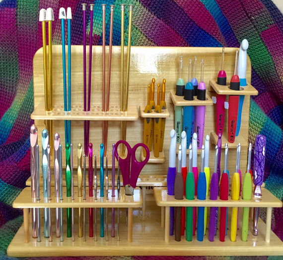 Wood Crochet Hook Holder or Organizer
