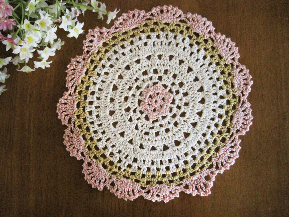 Crochet In the Round New Lovely Flower Hand Crochet Cotton Round Doily Pink Of Marvelous 44 Photos Crochet In the Round