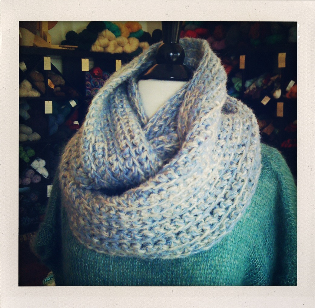 the whipped and frothed infinity scarf