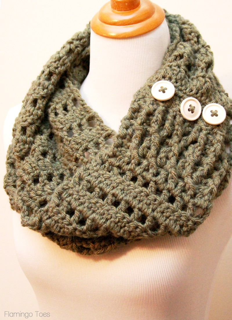 Crochet Infinity Scarf Inspirational Keep Yourself Cozy This Winter with these 22 Crocheted Of Fresh 46 Pics Crochet Infinity Scarf