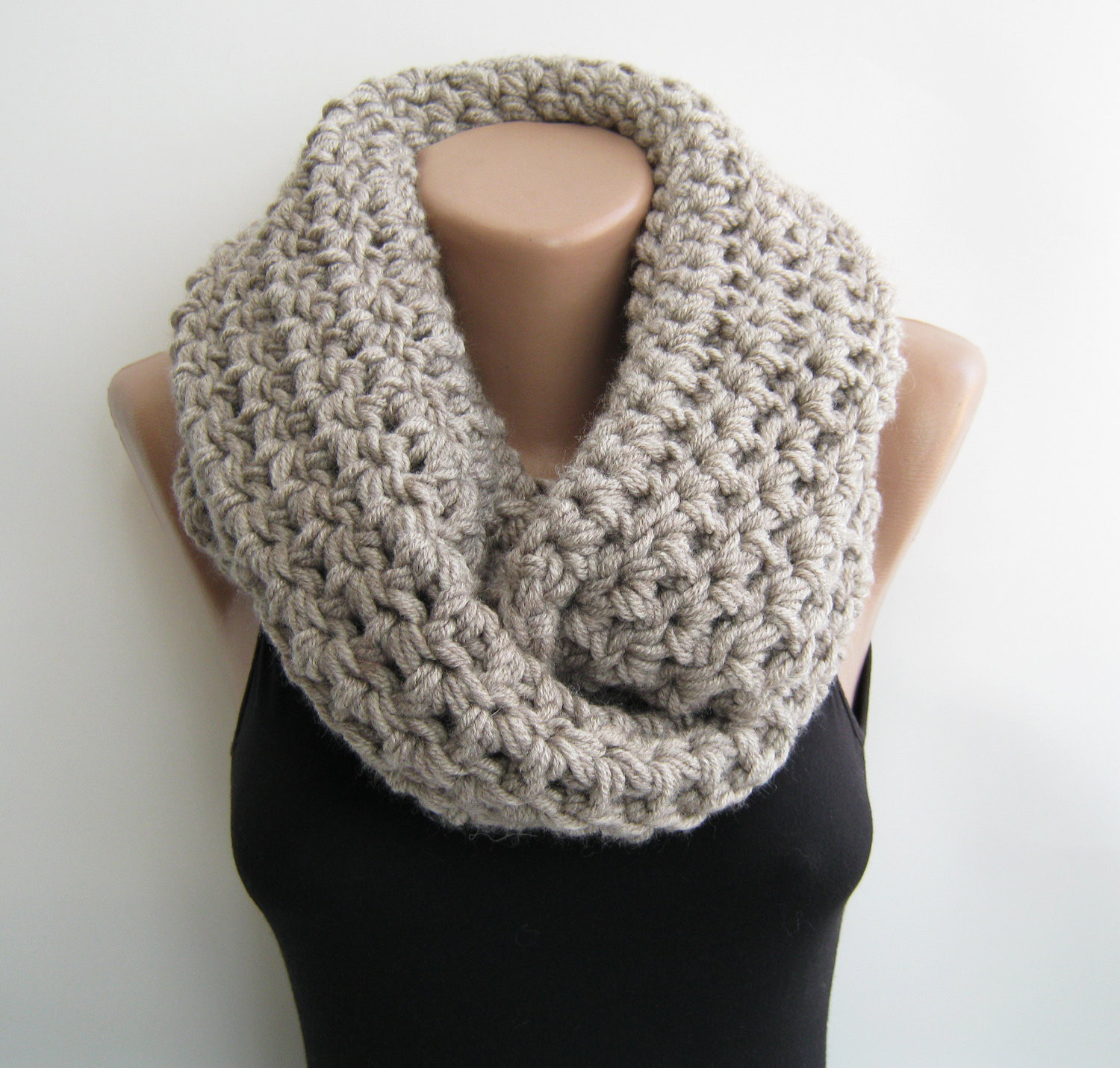 Crochet Infinity Scarves Awesome Chunky Circle Scarf Crochet Pattern Crochet and Knit Of New 44 Photos Crochet Infinity Scarves