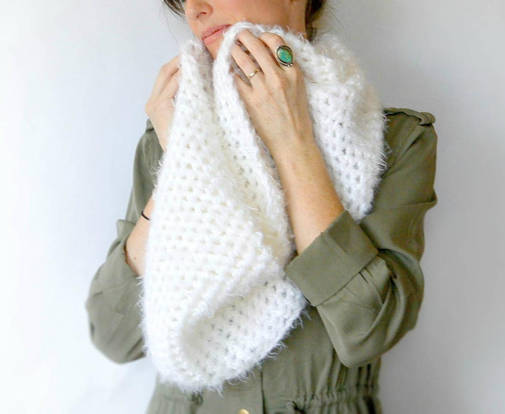 Crochet Infinity Scarves Awesome Powdered Sugar Infinity Scarf Crochet Pattern Of New 44 Photos Crochet Infinity Scarves