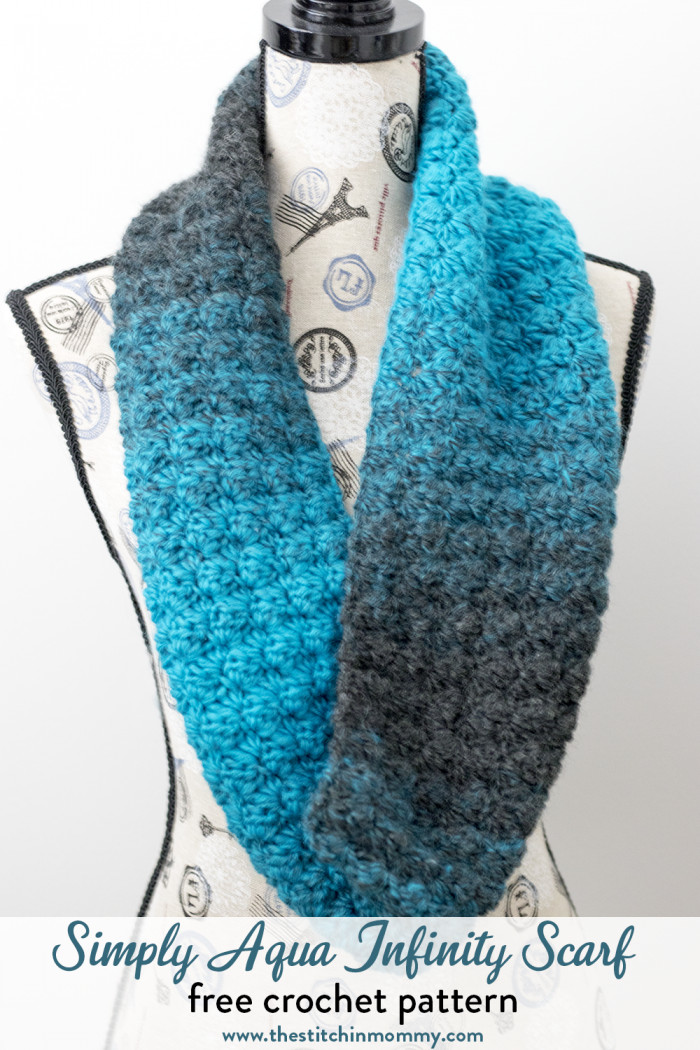 Crochet Infinity Scarves Elegant Simply Aqua Infinity Scarf Free Crochet Pattern the Of New 44 Photos Crochet Infinity Scarves