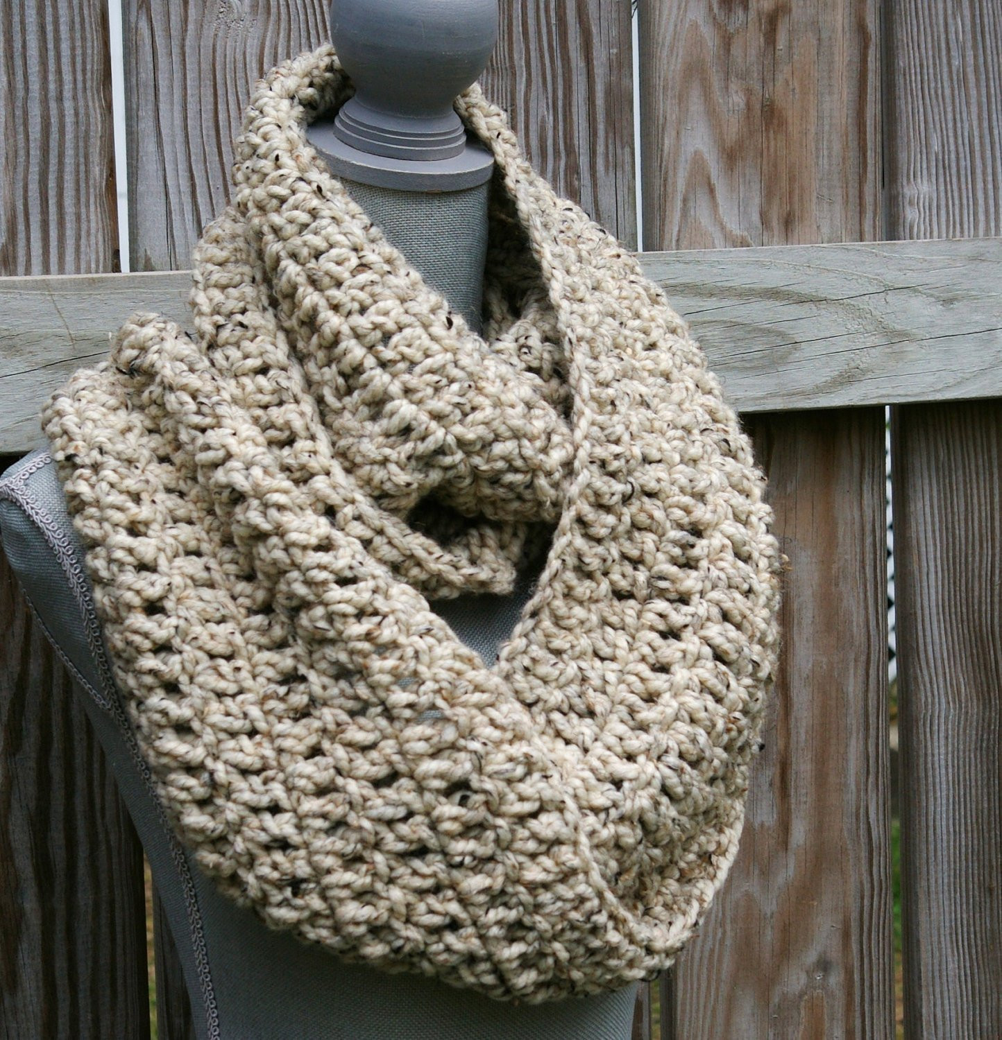 Infinity Scarf Crochet Circle Scarf Chunky Cowl by