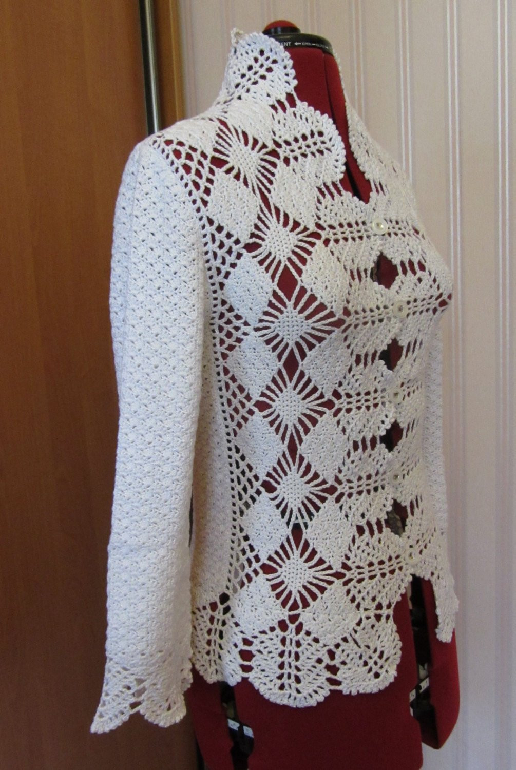 Crochet Jacket Awesome Crochet Jacket Lace Jacket Womens Clothing White Jacket Of Charming 45 Pictures Crochet Jacket