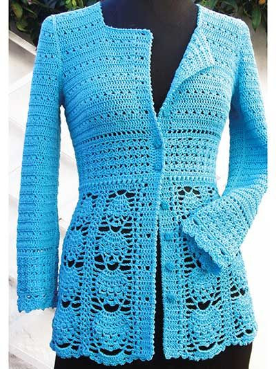 Crochet Jacket New Blue Lace Jacket Crochet Pattern From Annie S Of Charming 45 Pictures Crochet Jacket