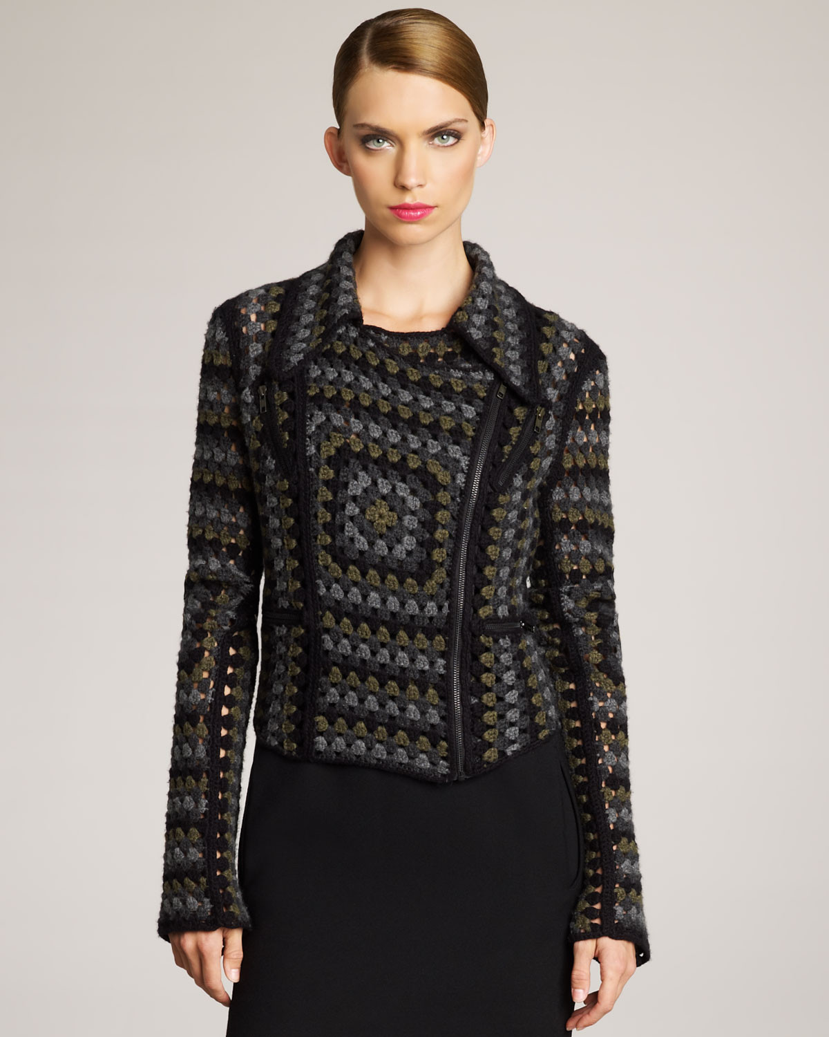 Crochet Jacket New Christopher Kane Cashmere Crochet Jacket In Gray Of Charming 45 Pictures Crochet Jacket