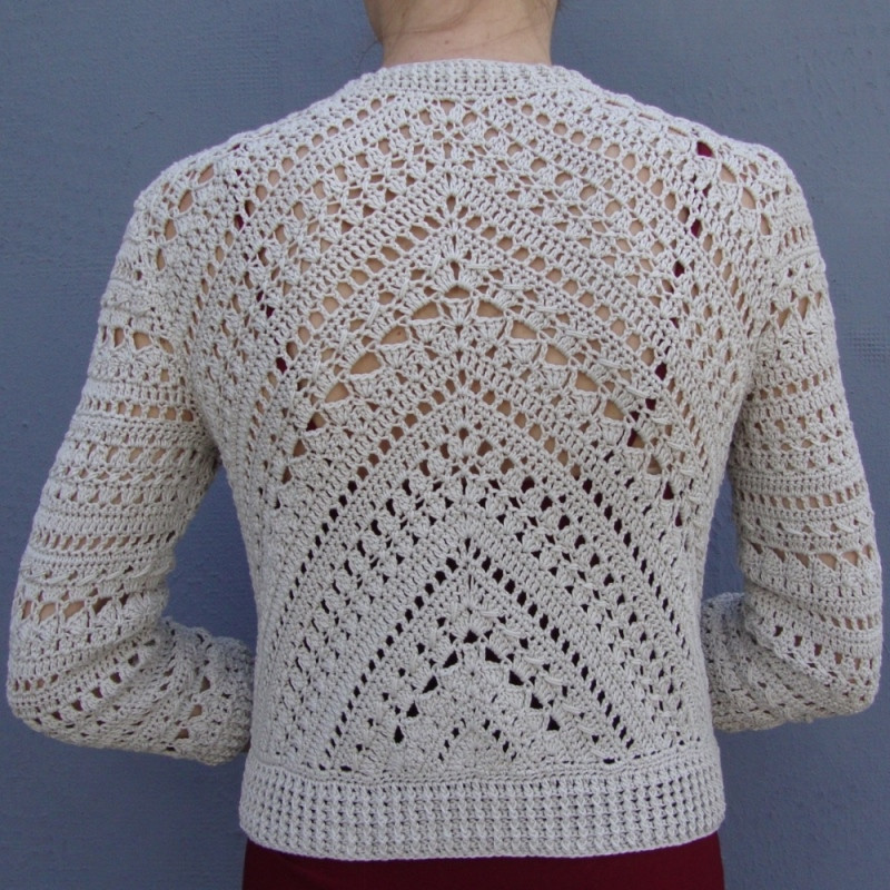 Crochet Jacket New Geometry In Crochet – Jacket with Triangle – Pattern Of Charming 45 Pictures Crochet Jacket
