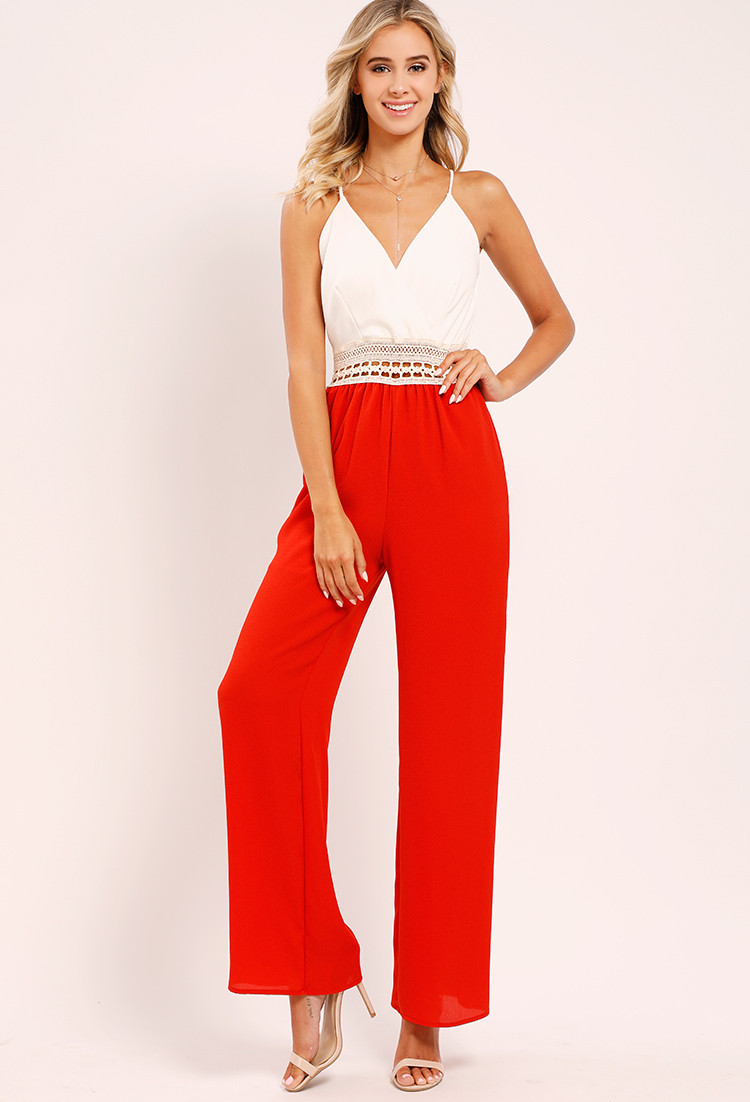 crochet trimmed sleeveless jumpsuit 1=1&color id=94&size id=3