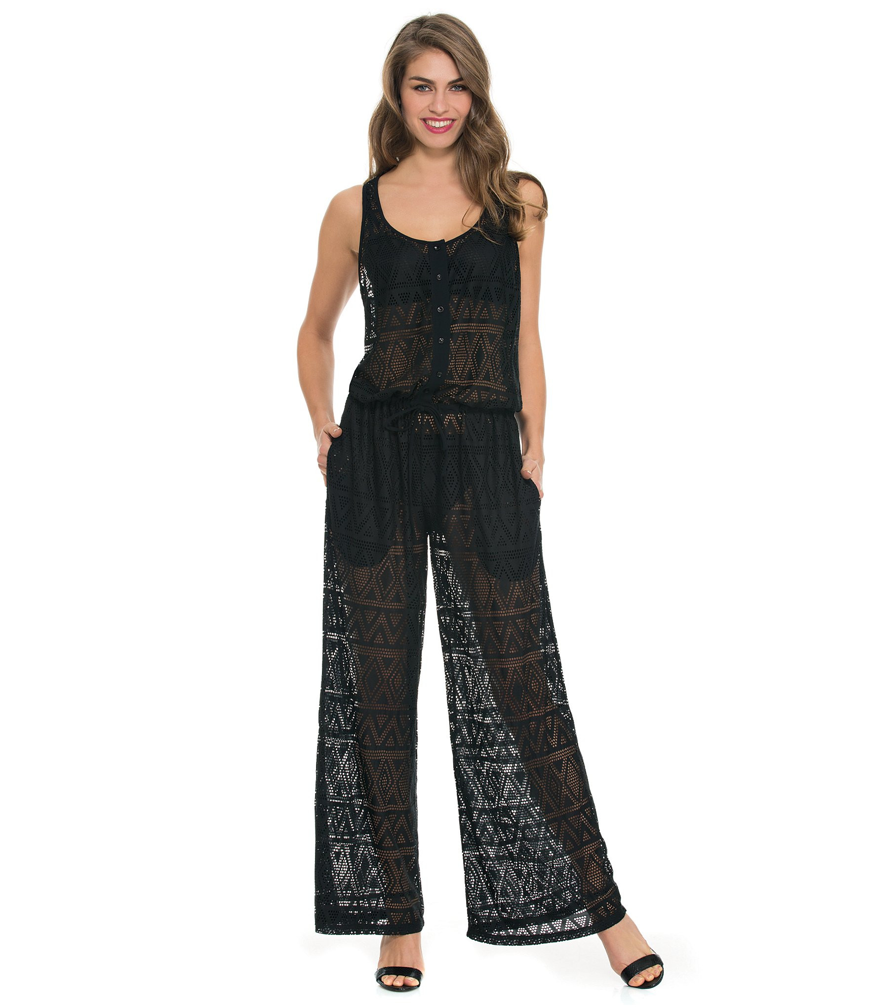 Crochet Jumpsuit Inspirational Gottex Crochet Jumpsuit Cover Up In Black Of Amazing 49 Pictures Crochet Jumpsuit