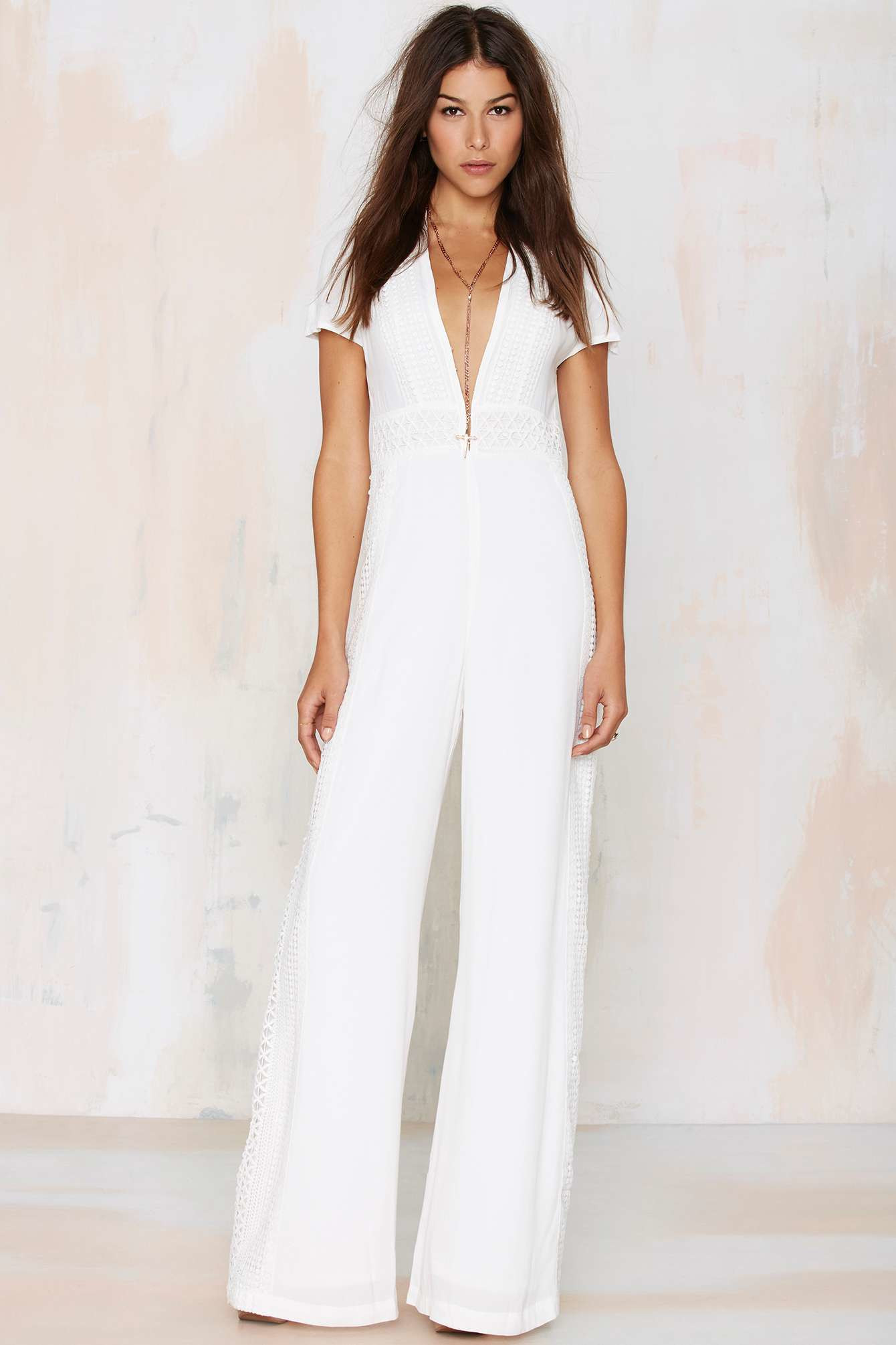 Crochet Jumpsuit Inspirational Nasty Gal Wayward Stun Crochet Jumpsuit White In White Of Amazing 49 Pictures Crochet Jumpsuit