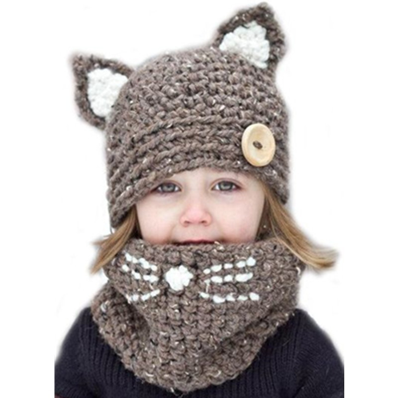 Crochet Kids Beanie Awesome Kid Cat Ear Winter Windproof Hats and Scarf Set for Kids Of Marvelous 41 Ideas Crochet Kids Beanie