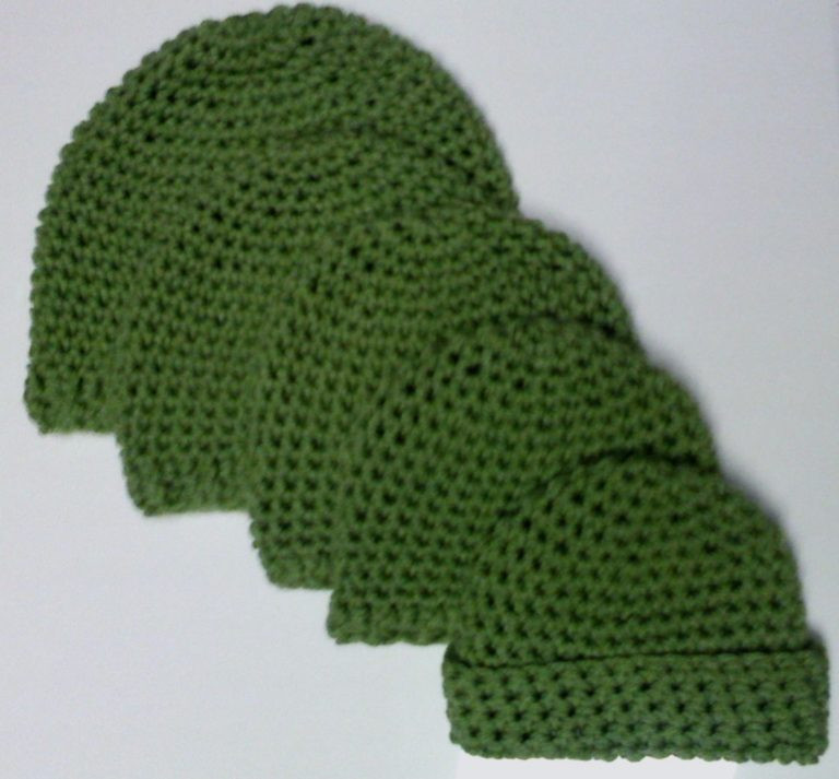 Babies Kids and Teens Single Crochet Beanie FREE
