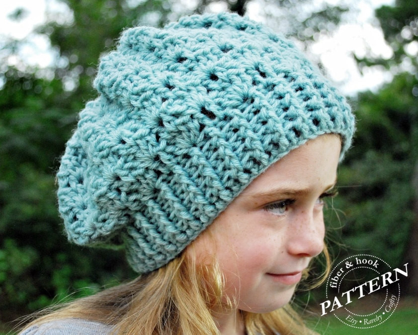 slouchy beanie crochet pattern for kids Crochet and Knit