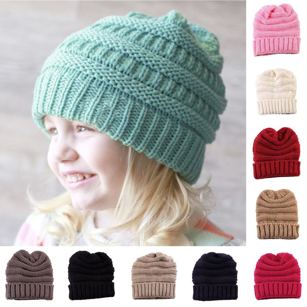 Crochet Kids Beanie Lovely Kids Girl Boy Baby Child Winter Warm Crochet Knit Hat Of Marvelous 41 Ideas Crochet Kids Beanie