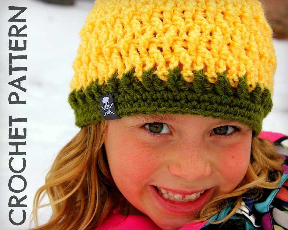 CROCHET HAT PATTERN Kids Twisted Beanie