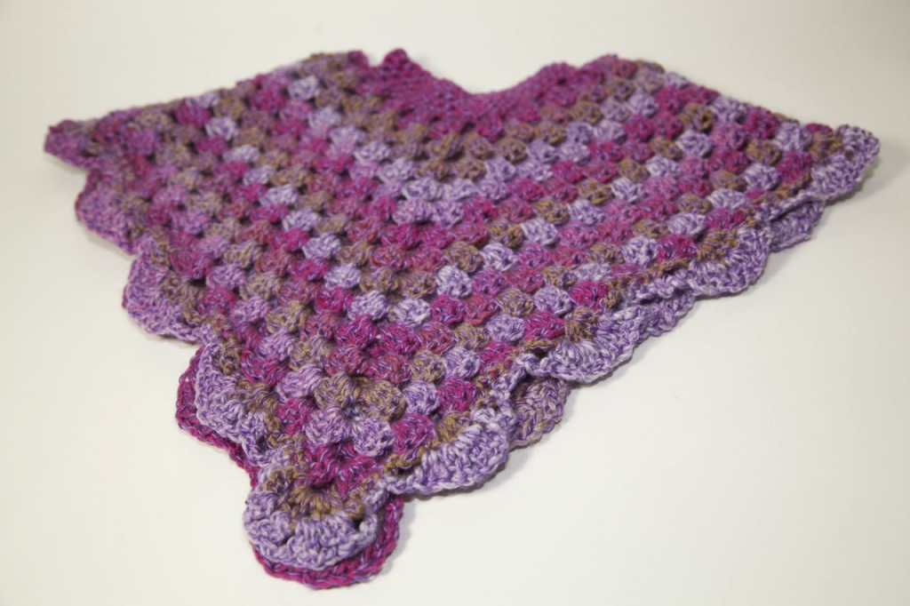 Toddler Crochet Poncho and Matching Hat