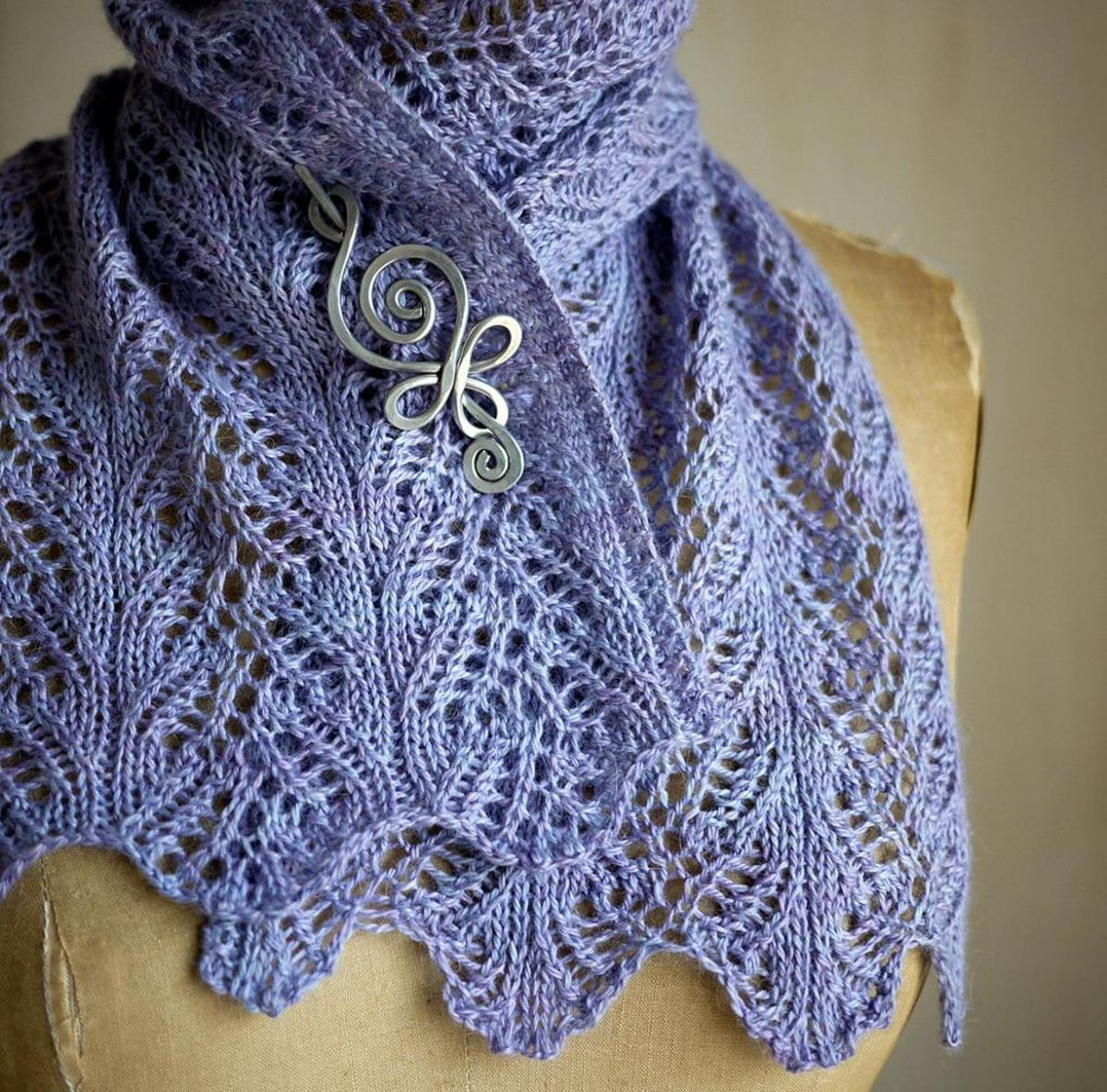 Aria Delicato Scarf Knitting Kit Featuring Mrs Crosby
